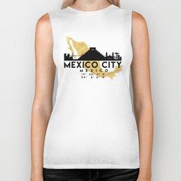 MEXICO CITY MEXICO SILHOUETTE SKYLINE MAP ART Biker Tank