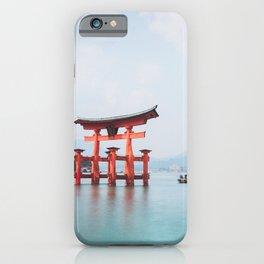 Floating Shrine of Miyajima, Japan iPhone Case