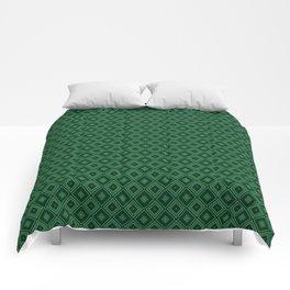 Emerald Green Diamond Pattern Comforters