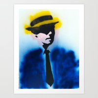 suits Art Prints featuring SUITS by Clay Bakkum