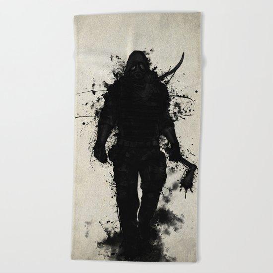 Apocalypse Hunter Beach Towel