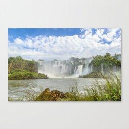 Waterfalls Landscape at Iguazu Park Canvas Print