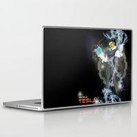 dbz Laptop & iPad Skins featuring DBZ Tesla Milky Way by Hushy