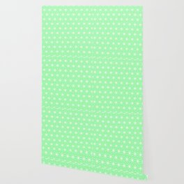 Pastel Green Flowers and Florals Isosceles Triangle Wallpaper