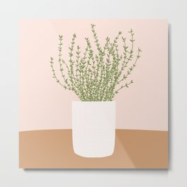Vase no. 20 with Thyme  Metal Print
