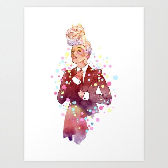 Janelle Monae's Neon Dream Art Print
