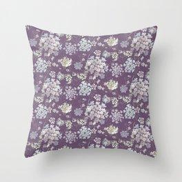 Michigan Lace Purple WKS Throw Pillow