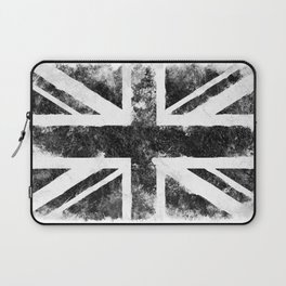Black Grunge UK Flag Laptop Sleeve