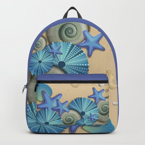 SEA SHELLS ON THE BEACH Backpack