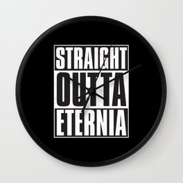 Straight Outta Eternia Wall Clock