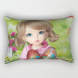 ** Easter Eggs hunting ** Rectangular Pillow