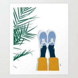 Palm and Vans Art Print