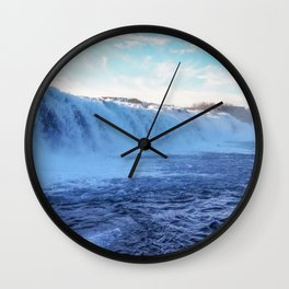 Flowing. Wall Clock