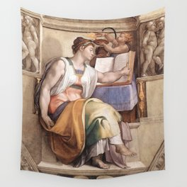 """Michelangelo """"The Erythraean Sibyl"""" Wall Tapestry"""