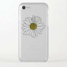 Daisy Yellow Clear iPhone Case