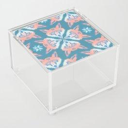 Pastel Fox Pattern Acrylic Box