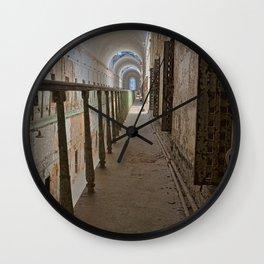 Green Grunge Mile Wall Clock