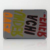 u2 iPad Cases featuring o-u2 by gasponce