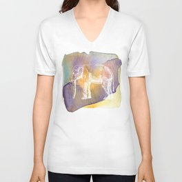 Color Spot Safari Elephant Unisex V-Neck