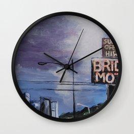 """""""Sleep off the HiWay"""" Highway 99 / Aurora Seattle Washington Wall Clock"""