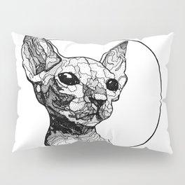 Inside out sphynx cat Pillow Sham