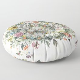 Circle of Life Cream Floor Pillow