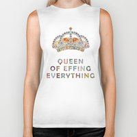 motivation Biker Tanks featuring her daily motivation by Bianca Green