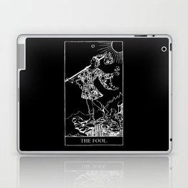 0. The Fool- White Line Tarot Laptop & iPad Skin