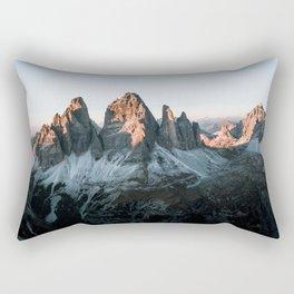 Dolomites sunset panorama - Landscape Photography Rectangular Pillow