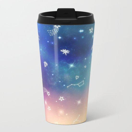 Sky with stars Metal Travel Mug