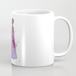 Elsa The Snow Queen and Anna in watercolor Coffee Mug