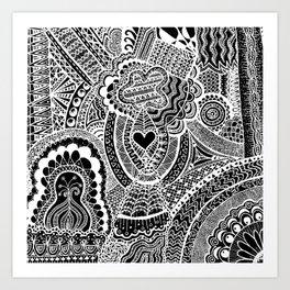 Love Doodle Art Print