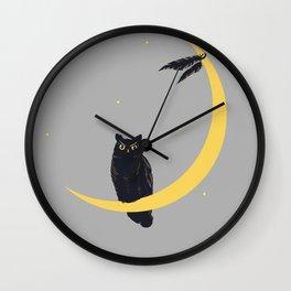 Owl territory Wall Clock