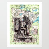 minnesota Art Prints featuring Minnesota by Ursula Rodgers