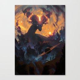 The Cosmic Dragon Canvas Print