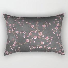 SAKURA LOVE - GRUNGE BLACK Rectangular Pillow