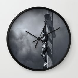 Father forgive them Wall Clock