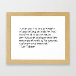 Leo Tolstoy Quote Framed Art Print