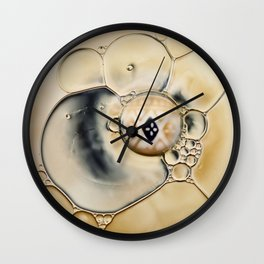 oil water abstract Wall Clock