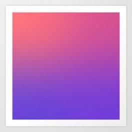 HALLOWEEN CANDY - Minimal Plain Soft Mood Color Blend Prints Art Print
