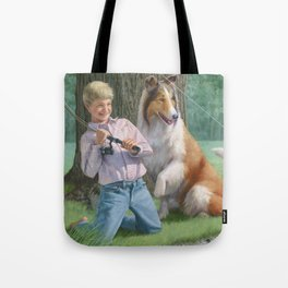 Timmy and Lassie Tote Bag