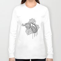 gun Long Sleeve T-shirts featuring Gun by WithoutG