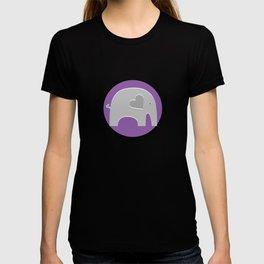 Purple Safari Elephant T-shirt