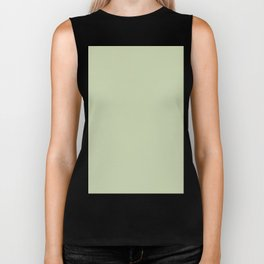 Plain Solid Color Seafoam Green Biker Tank