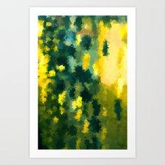 Squares Pattern #Yellow #Green #Mint #2 Art Print
