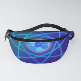 Blue Atomic Structure Fanny Pack