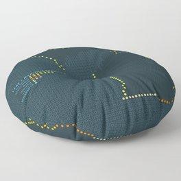 MDOT - Michigan Land & Maritime Borders Floor Pillow