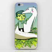 friendship iPhone & iPod Skins featuring Friendship by Emily Joan Campbell