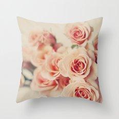 Pale bouquet Throw Pillow