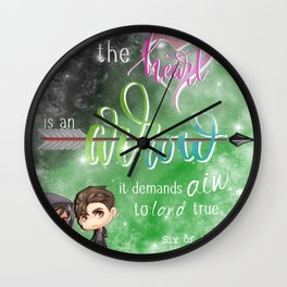 the heart Wall Clock